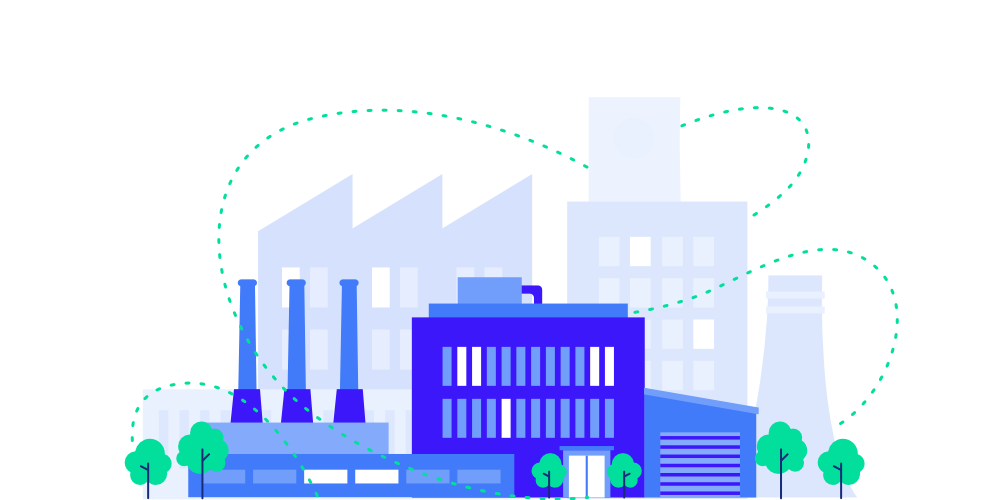 Factory network illustration