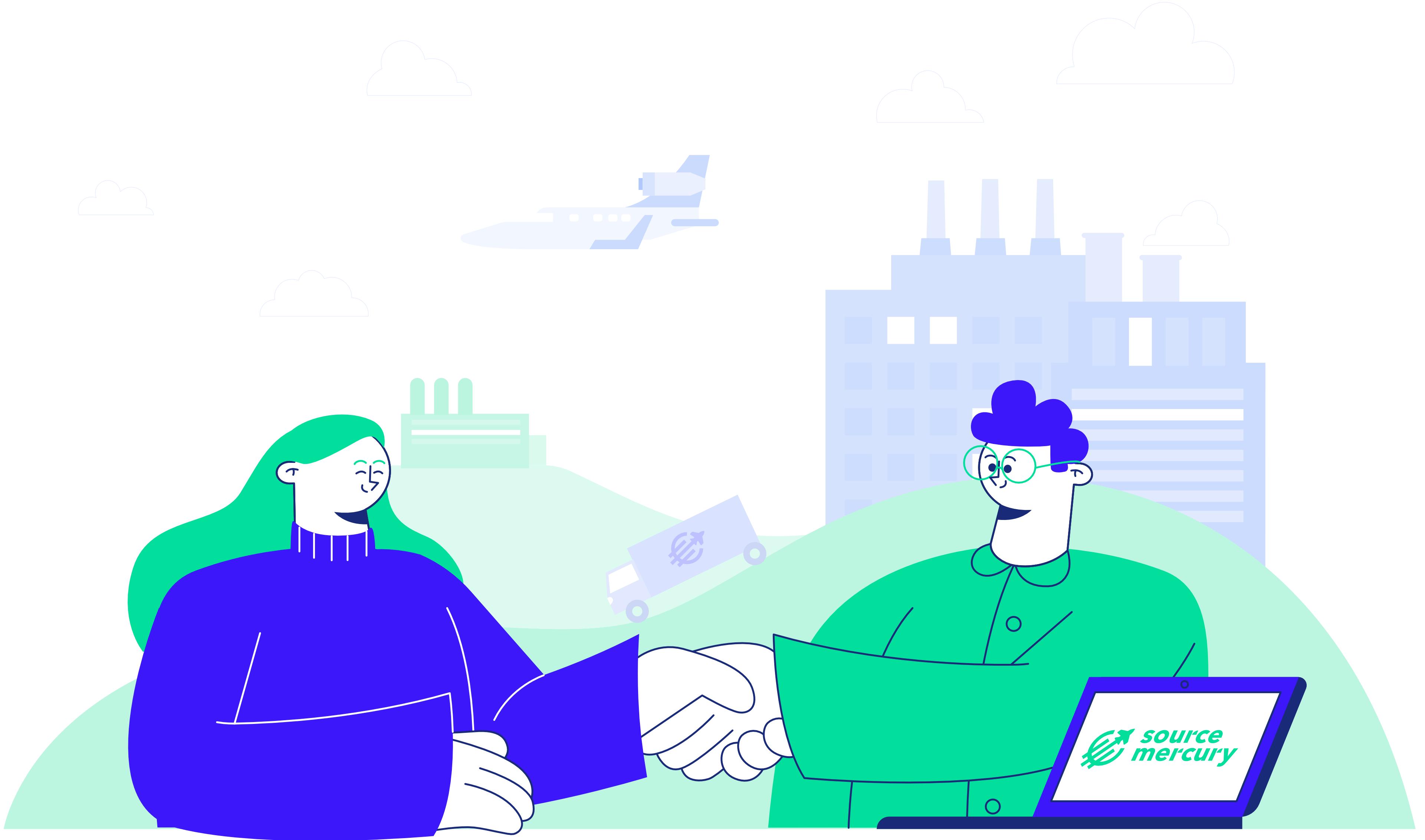 Contract handshake illustration