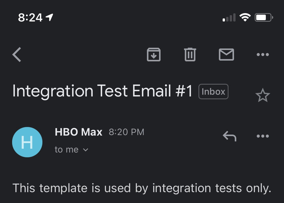 HBO email