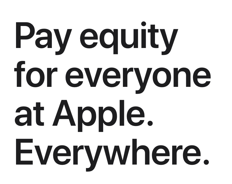 Apple pay equity statement