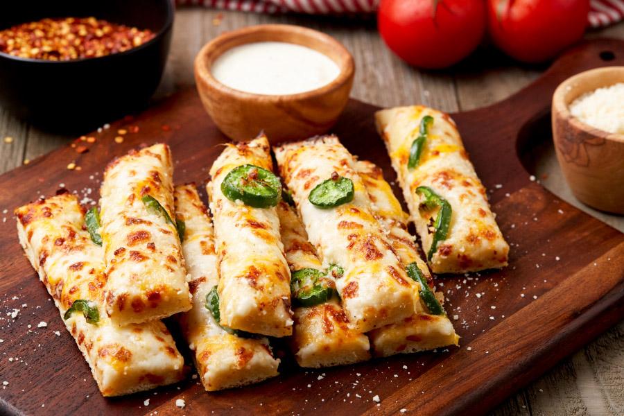 Jalapeño Cheese Breadsticks