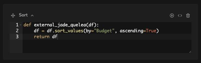 sorting function for data analysis