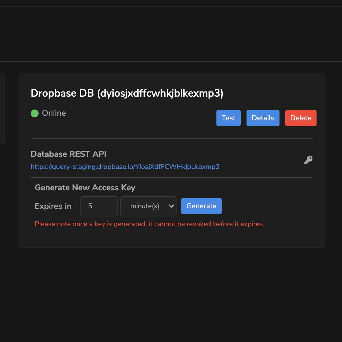 Dropbaser Database REST API