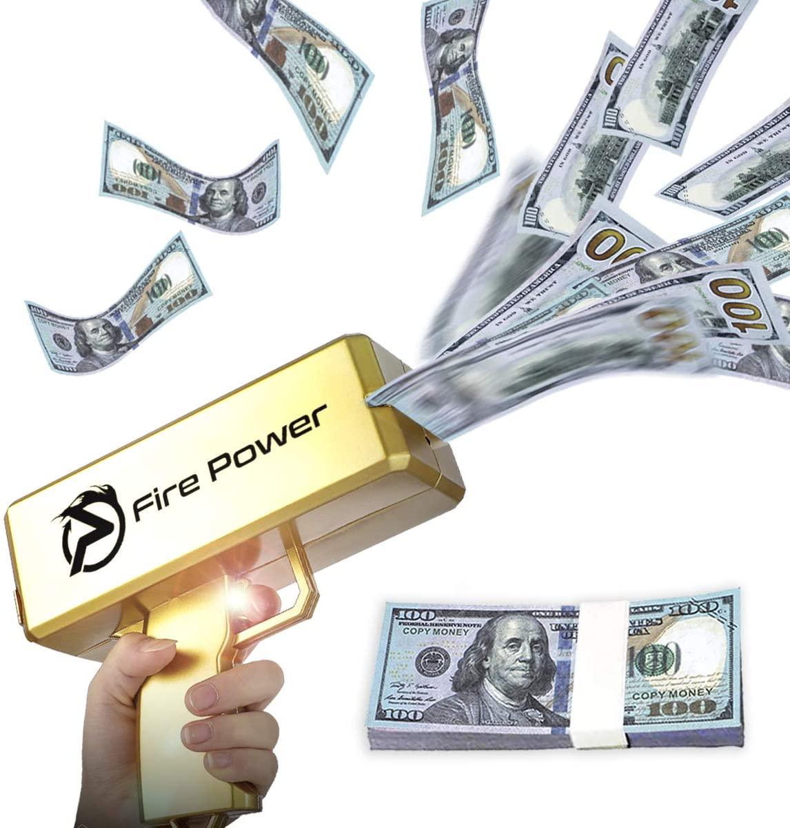Golden Money Gun