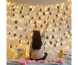 Photo Clips Light Up Wall Display