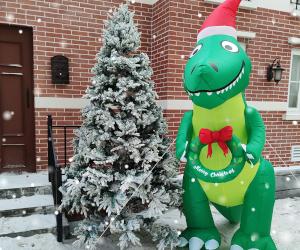 Giant Christmas T-Rex