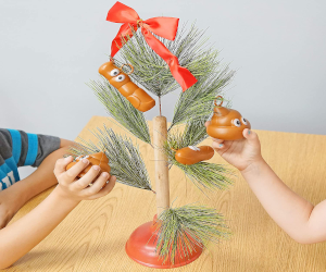 Plunger Christmas Tree with Poop
