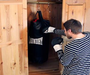 Punching Bag Laundry Basket