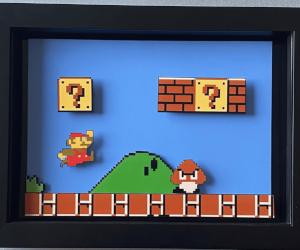Super Mario 3D Wall Art