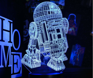 3D R2D2 Lamp