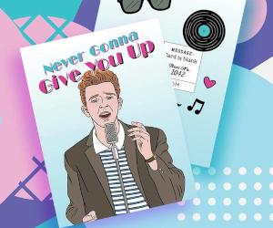Rickroll Valentine's Card