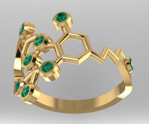 THC Molecule Ring