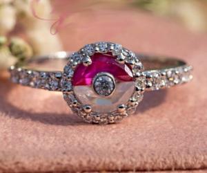 Pokeball Engagement Ring