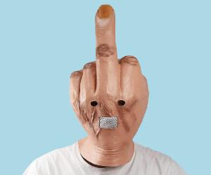 Giant Middle Finger Mask