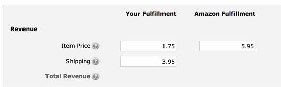 Pricing in FBA calculator