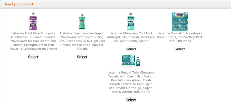 Which Product is Yours?