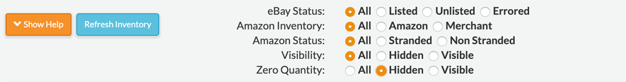 JoeLister Inventory Filters