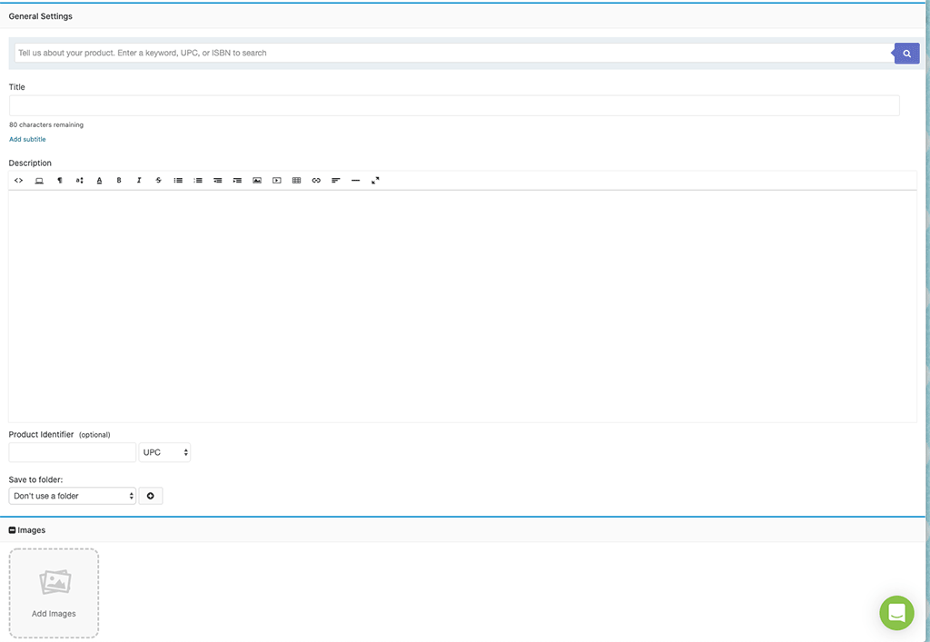 InkFrog: Create eBay Listing