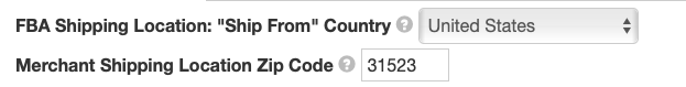 eBay Shipping Location