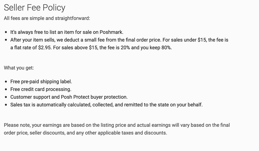 Poshmark Fashion Marketplace Pricing