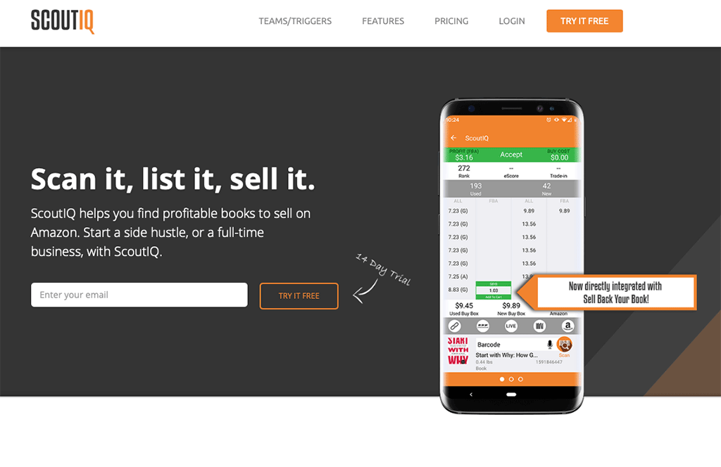 Scout IQ - app for scanning products to sell on Amazon