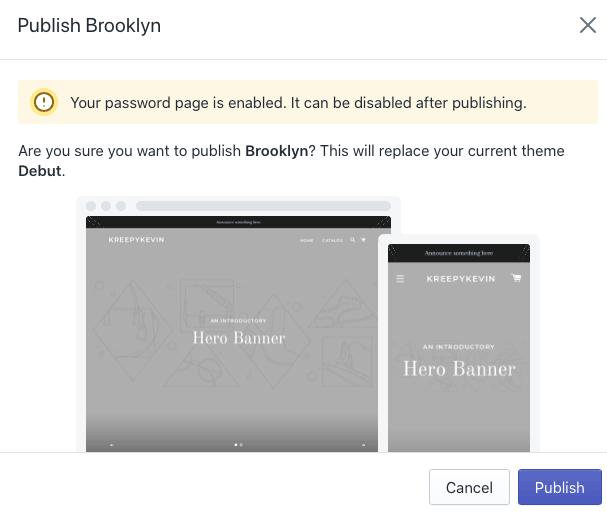 Publish your Shopify theme.