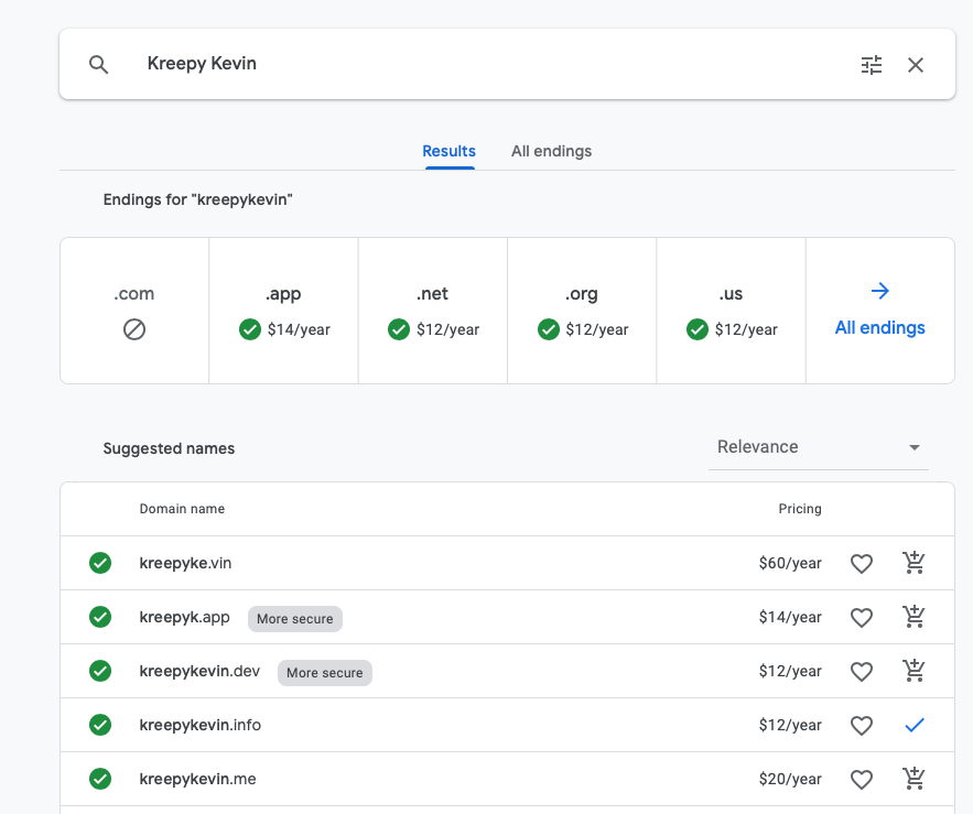Google Domains example