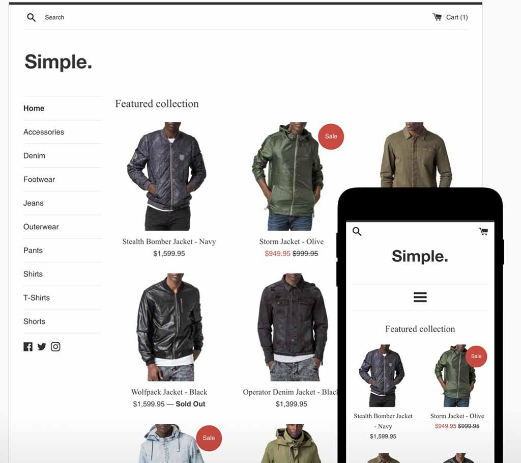 Shopify Free Theme: Simple