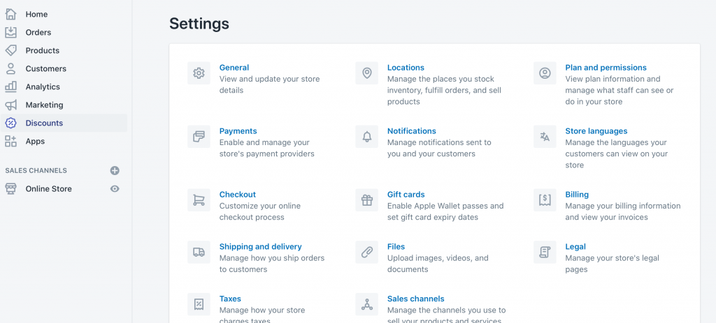 How Do I Change my Shopify Store Name? > General Settings