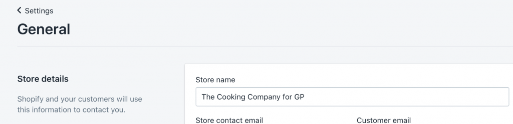 How Do I Change my Shopify Store Name? > New Name Showing