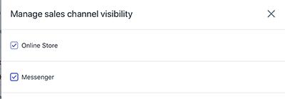 Publish Shopify Product Listing