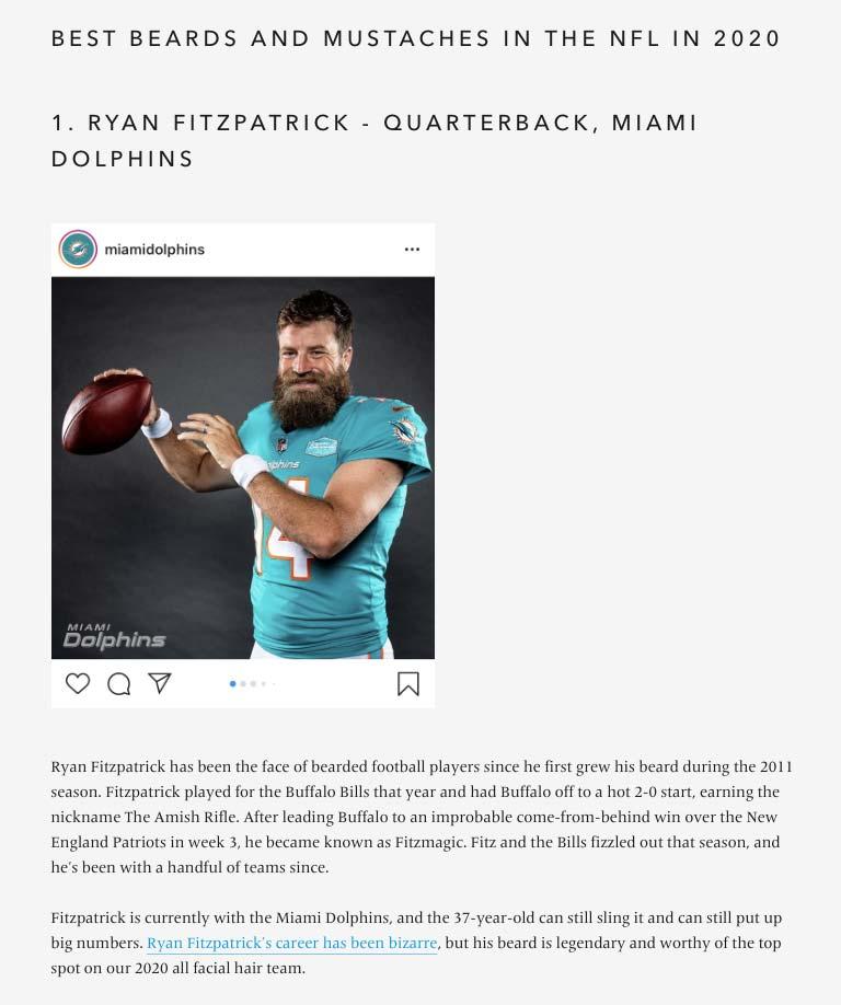 Best NFL Beards