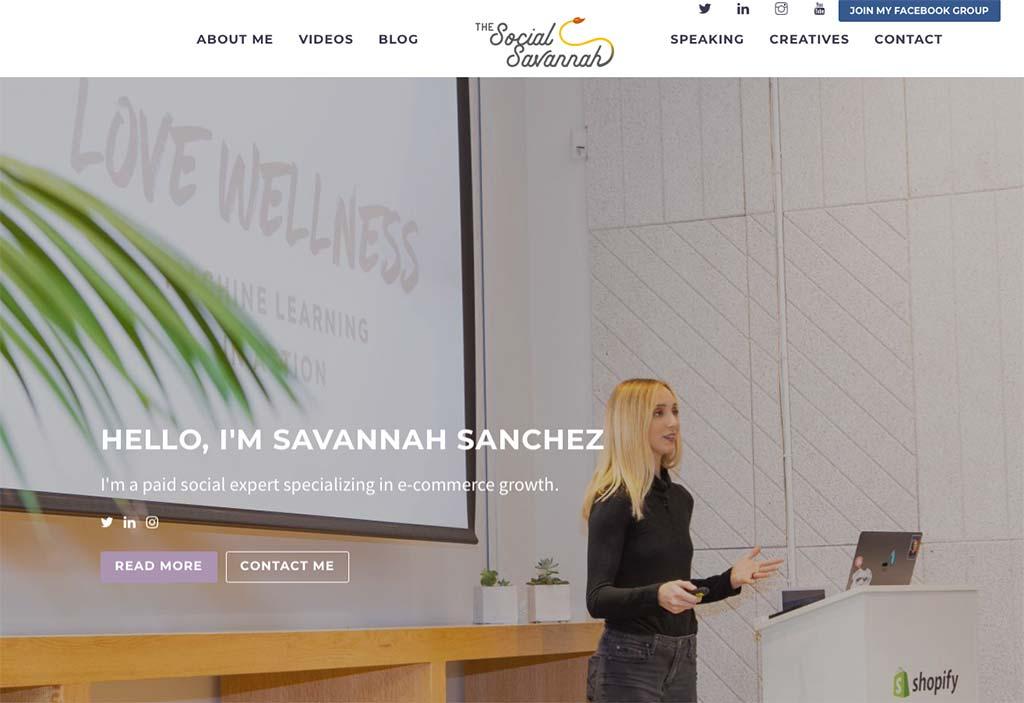 eCommerce Marketing Expert: Savannah Sanchez