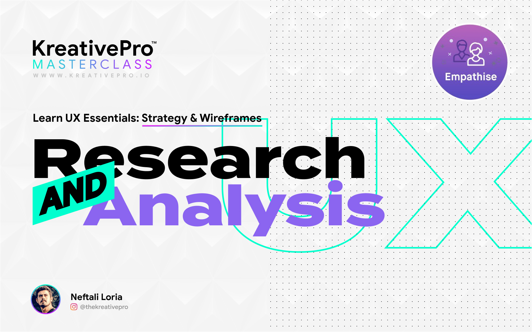 UX 3.1 - Research and Analysis