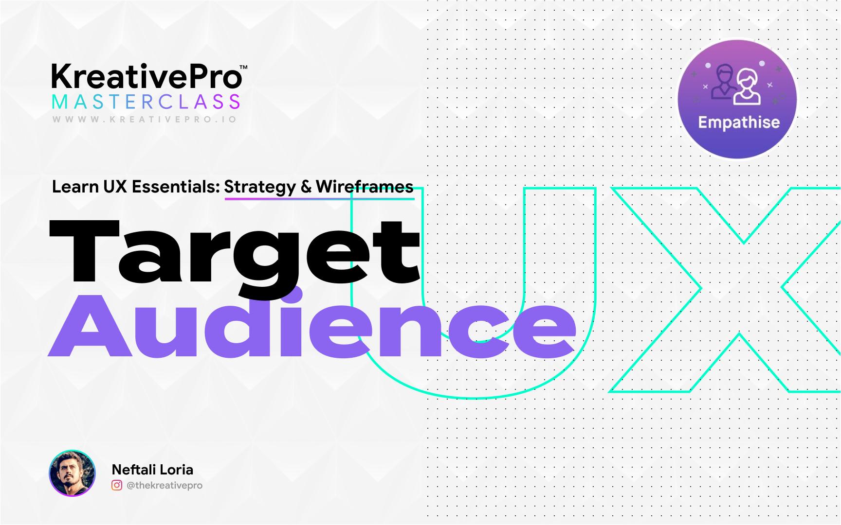 UX 3.2 - Target Audience