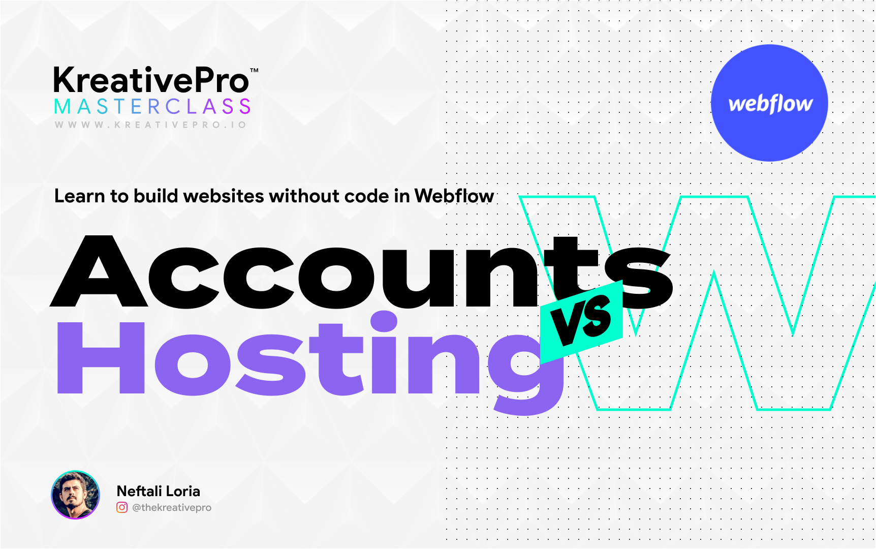 Webflow 2.2 - Accounts vs Hosting