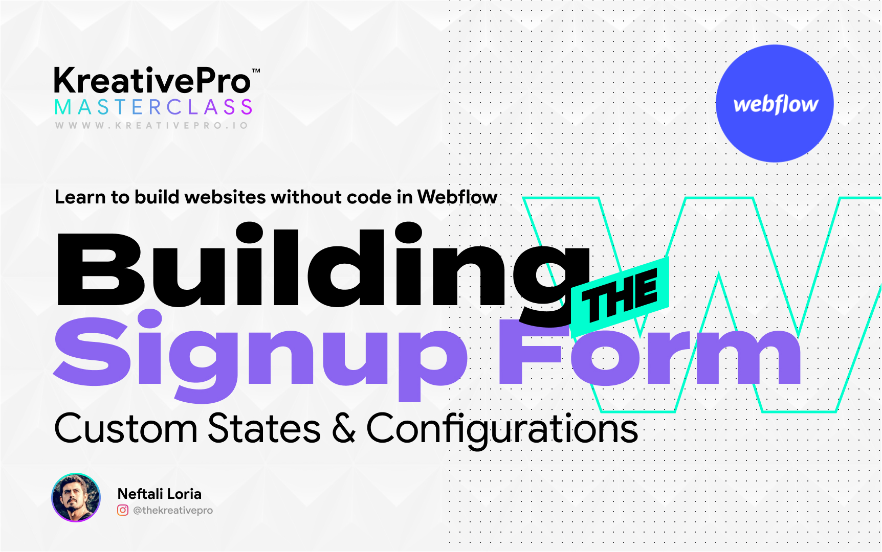 Webflow 3.7 - Building the Signup Form