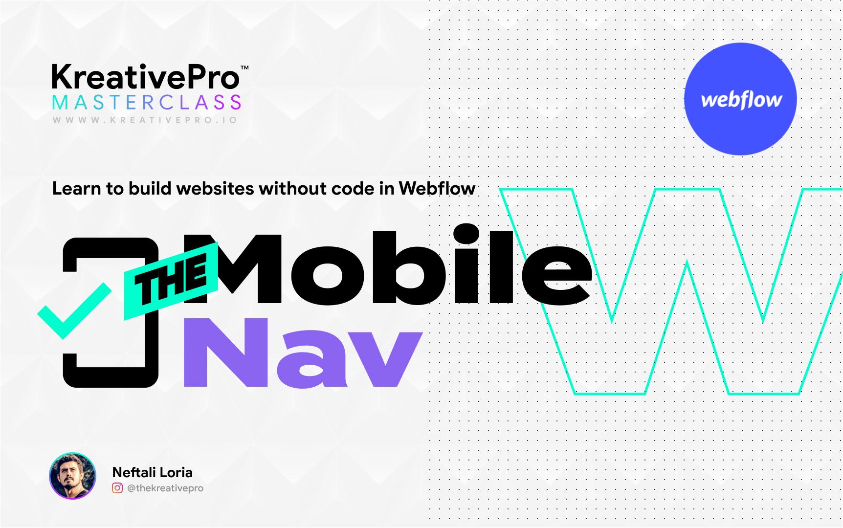 Webflow 4.3 - The Mobile Nav