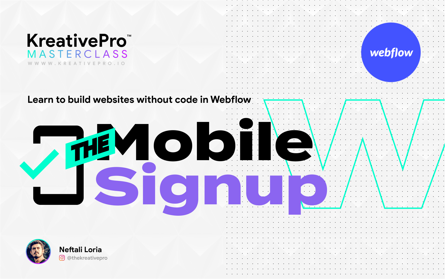 Webflow 4.8 - The Mobile Signup