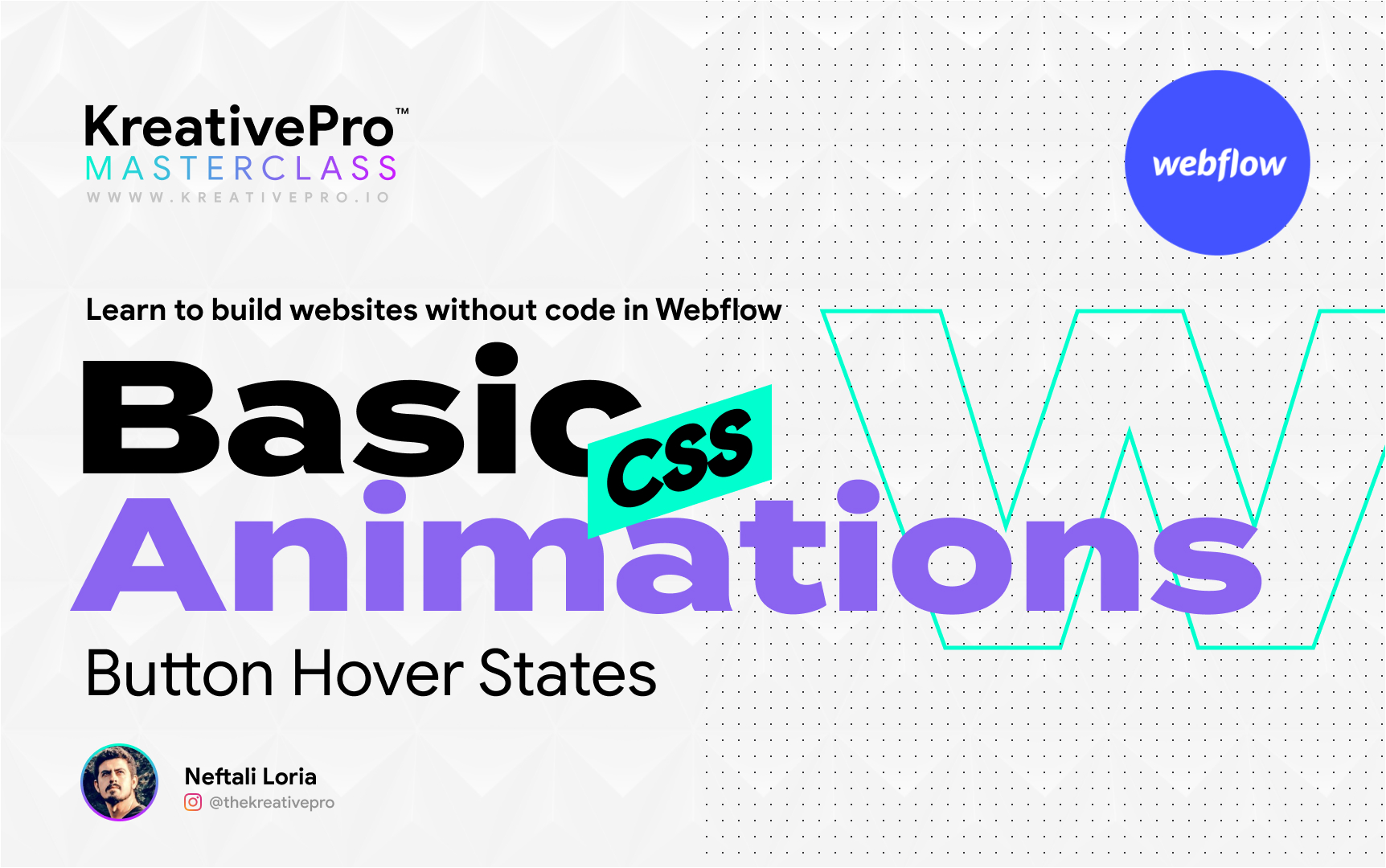 Webflow 5.1 - Basic CSS Animations