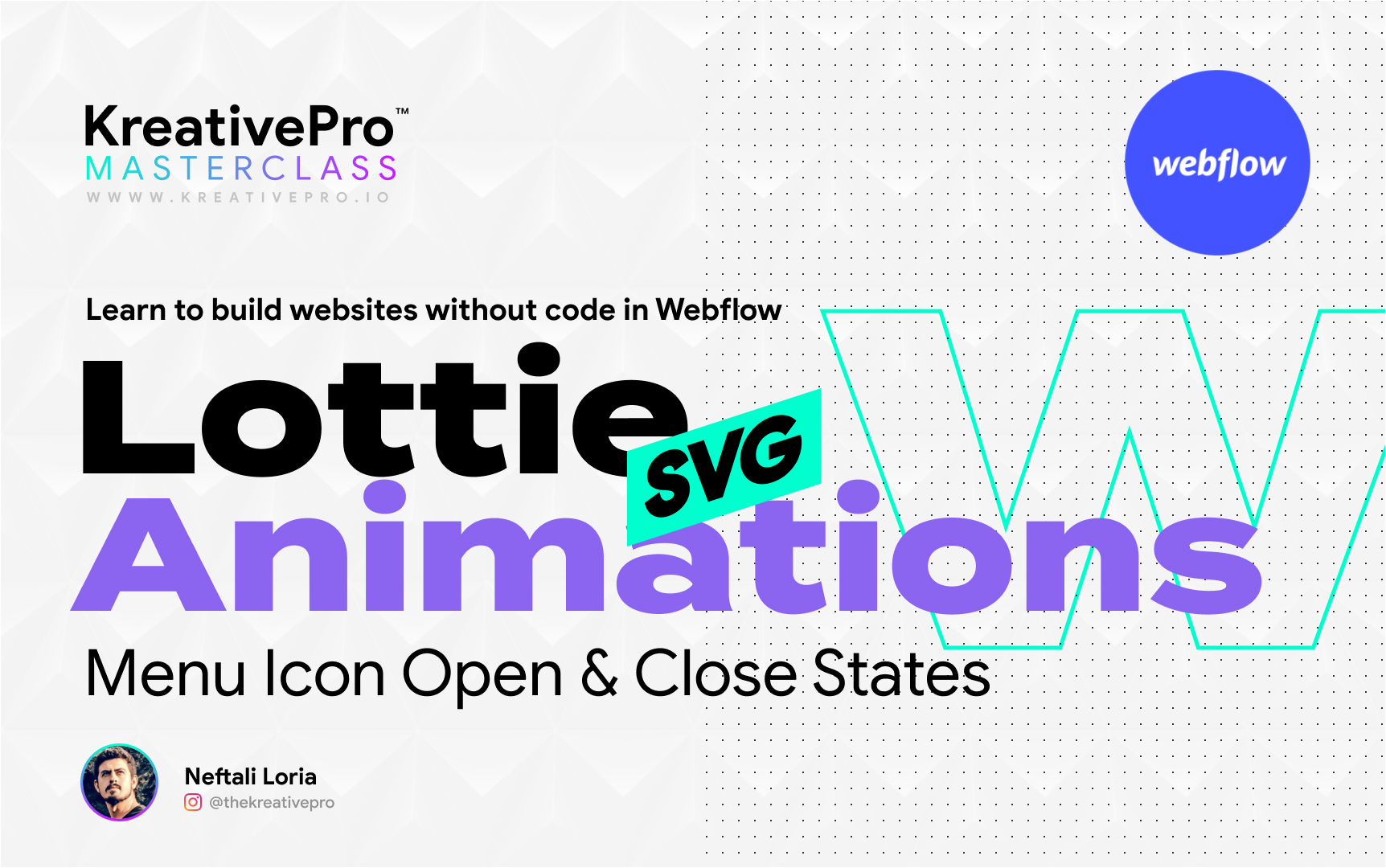 Webflow 5.2 - Lottie Animations