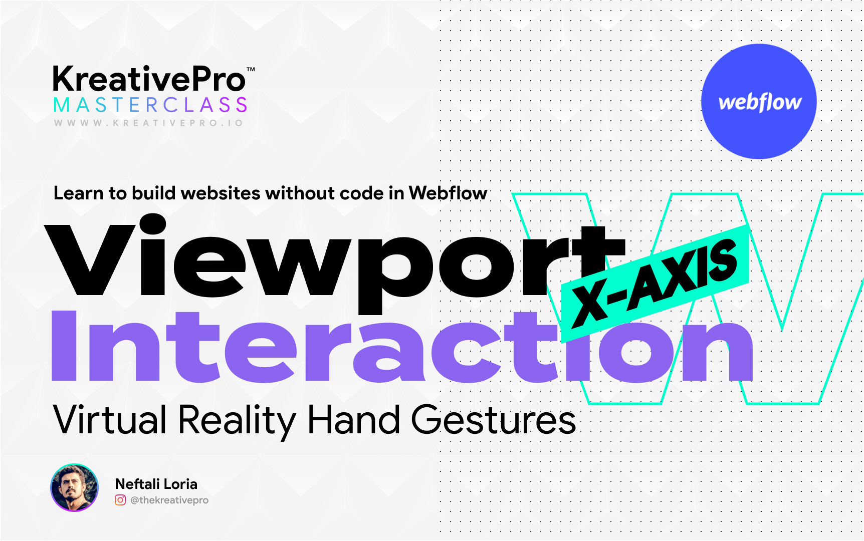 Webflow 5.4 - Viewport X-Axis Interaction