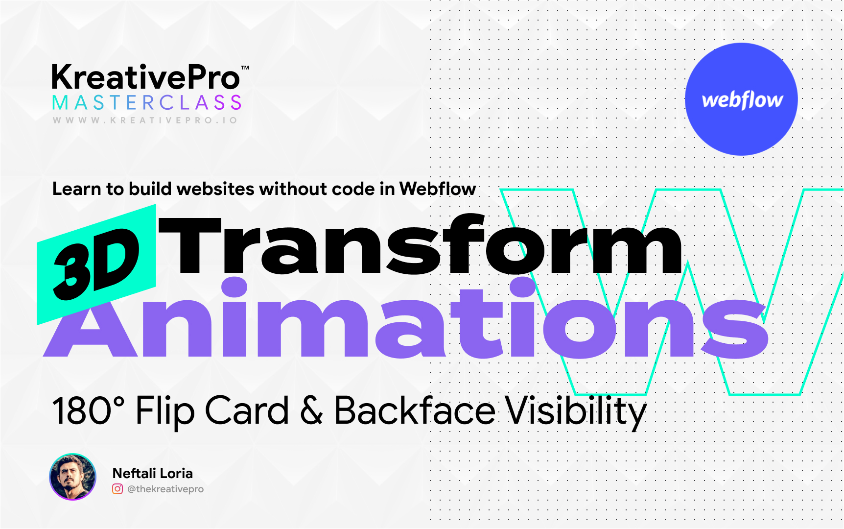 Webflow 5.5 - 3D Transform Animations