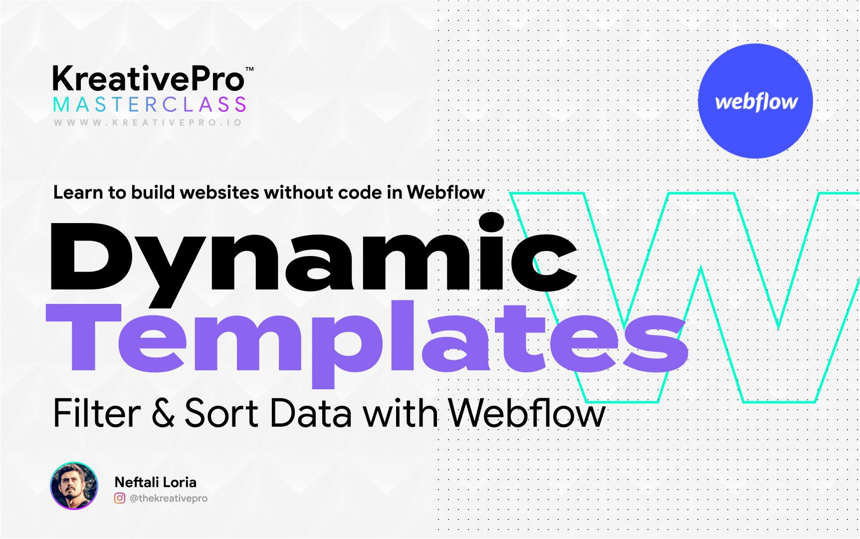 Webflow 6.4 - Dynamic Templates