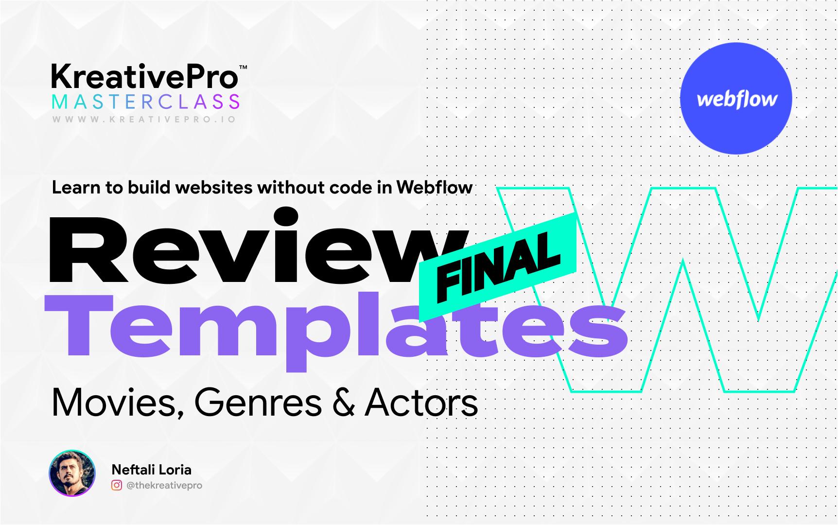 Webflow 6.7 - Review Final Templates