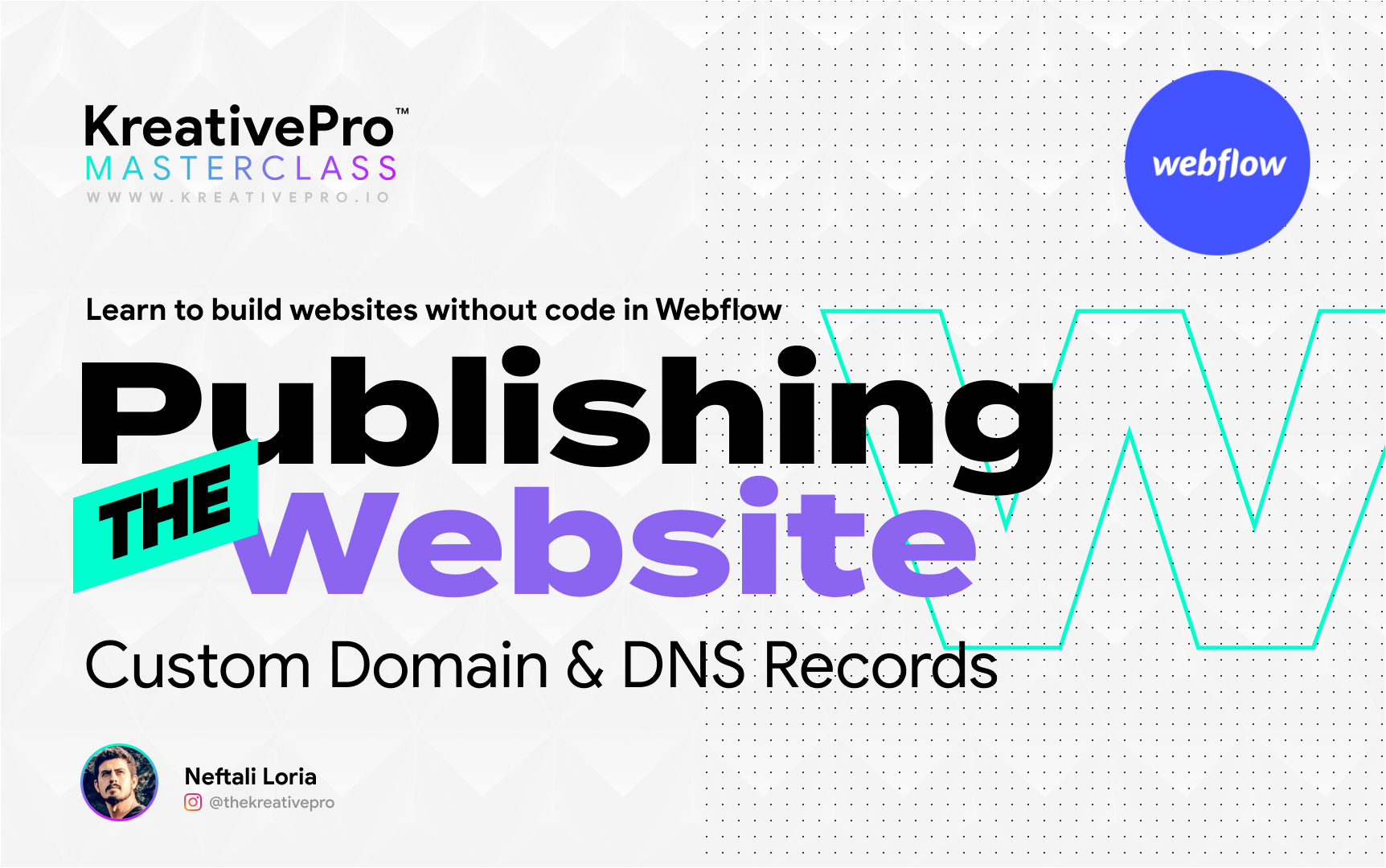 Webflow 7.4 - Publishing the Website