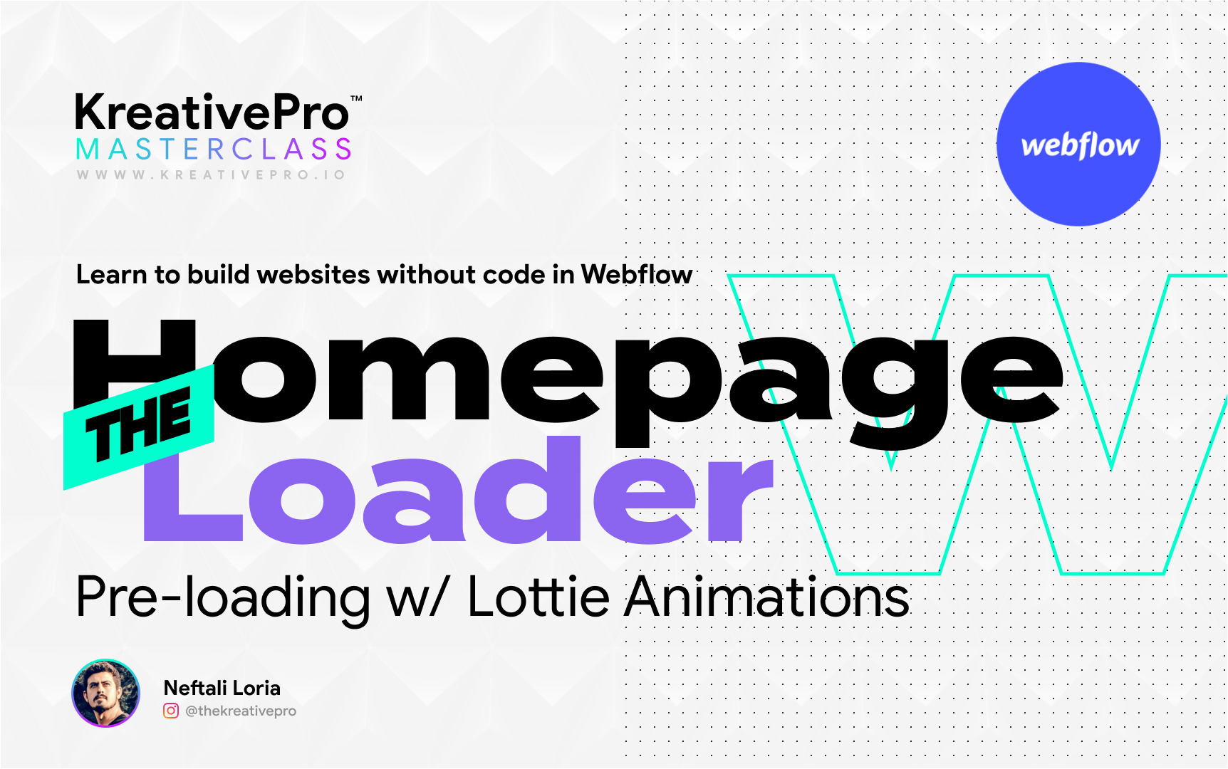 Webflow 5.9 - Homepage Loader