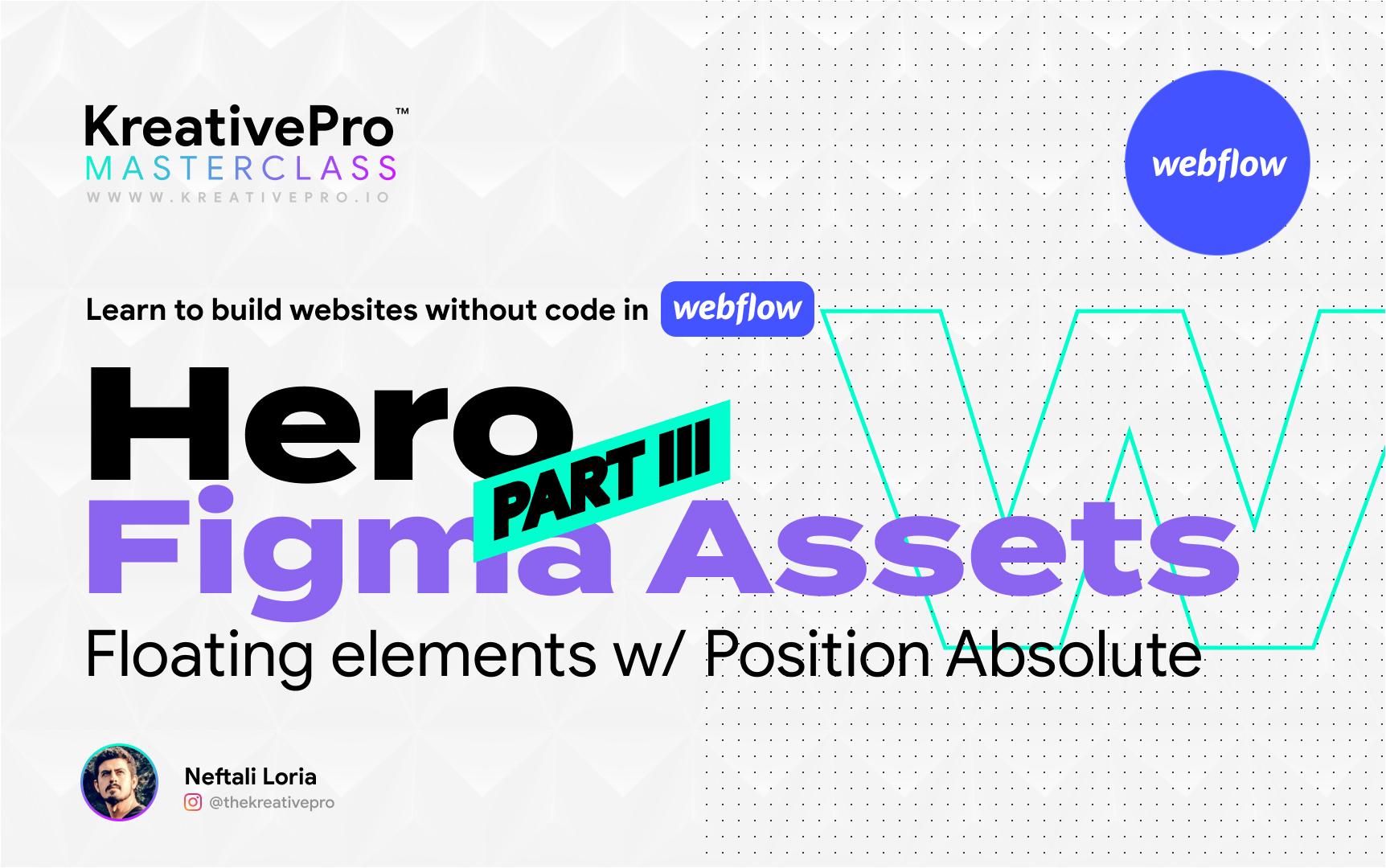 Webflow 3.2 - Hero Part III: Figma Assets