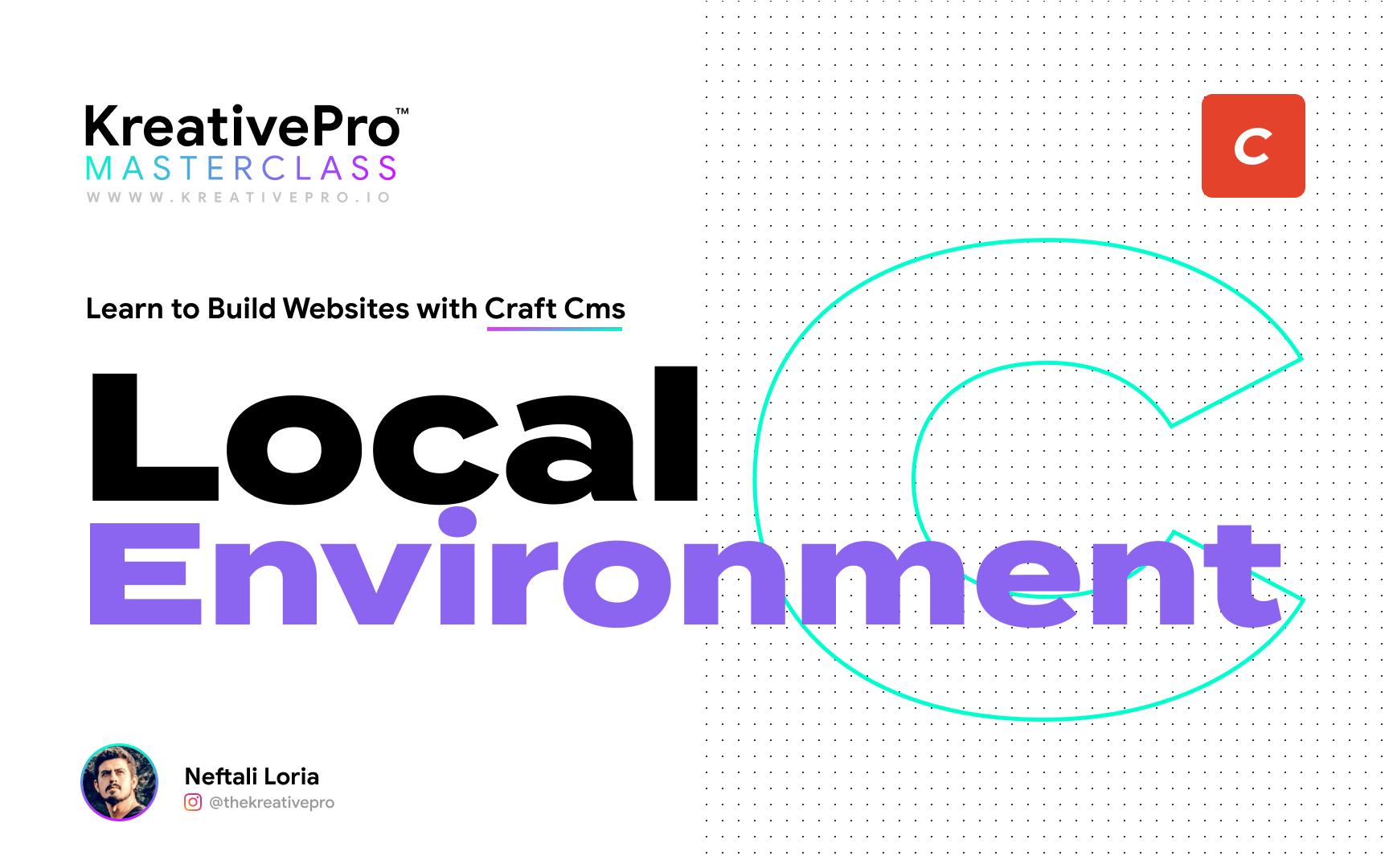 Craft 3.1 - Local Environment