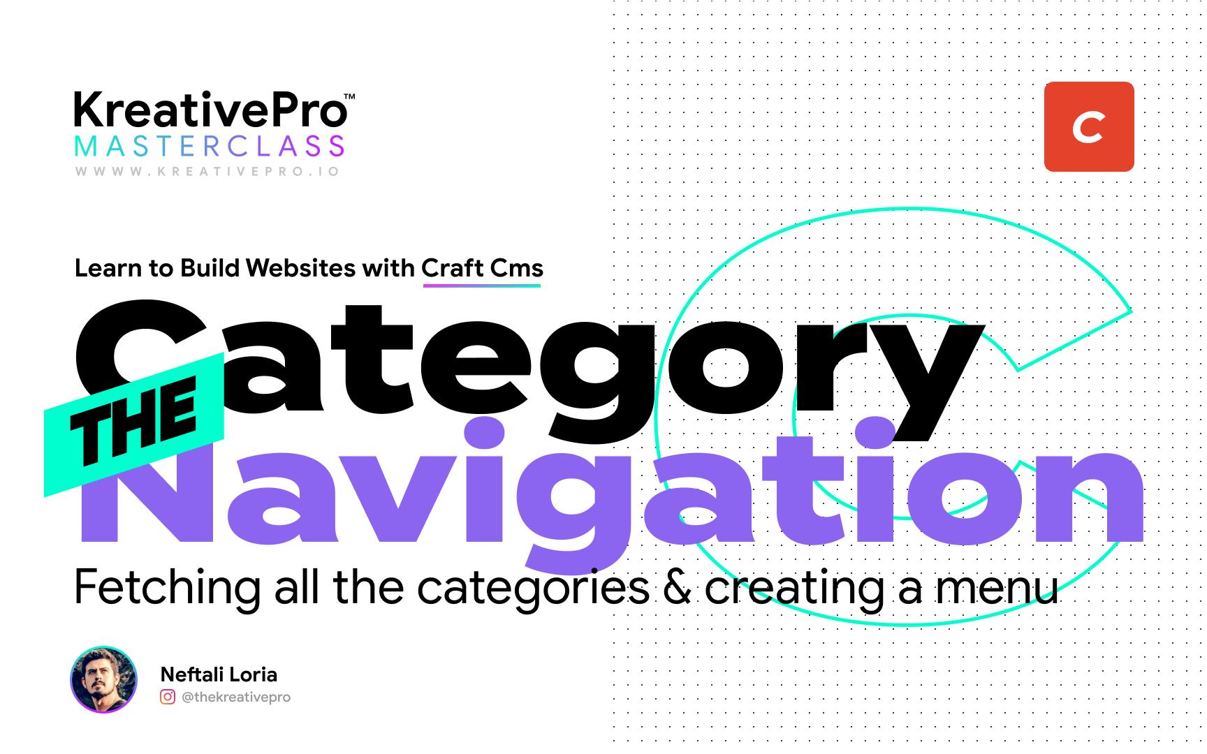 Craft 4.6 - Category Navigation